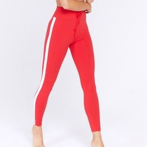 Spiritual Gangster Sporty Red High Waist Legging